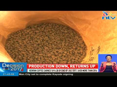 Kenyan coffee earned Ksh. 14.3bn by end of July 2017, Ksh. 2bn more than 2016