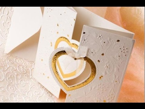 Heart Shaped Wedding Cards - YouTube
