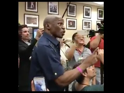 Floyd Mayweather Sr. Crashes Conor McGregor's Media Scrum in LA - MMA Fighting