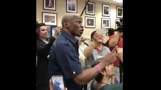 Floyd Mayweather Sr. Crashes Conor McGregor's Media Scrum in LA - MMA Fighting