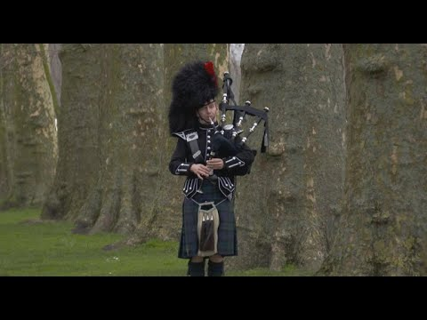 Scotland's tradition of bagpipes and kilts marches on