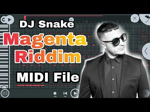 DJ Snake - Magenta Riddim FREE MIDI File Download in FL Studio Mobile 3