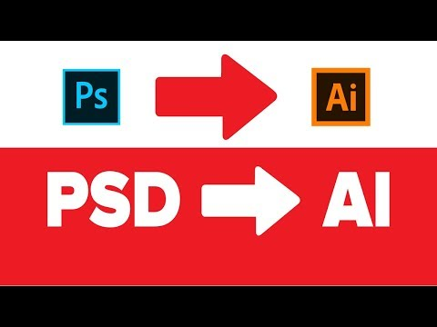 How To Convert PSD To AI | Photoshop & Illustrator Tutorial