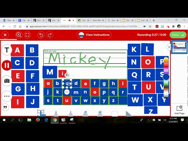 Seesaw Name Puzzle Youtube