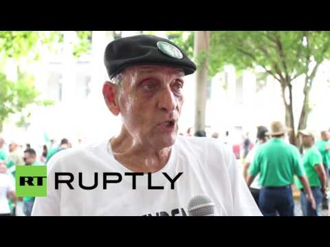 Puerto Rico: Pro-independence activists rally to demand independence from US
