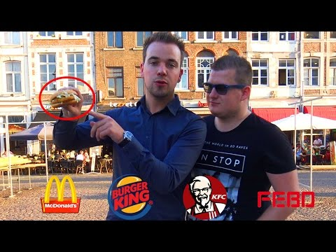 DE BESTE FASTFOOD BURGER! Mc Donalds, Burgerking, KFC of FEBO?