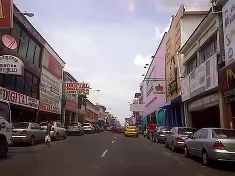 Vídeo paseo por Calle 11 y Avenida Bolívar, Ciudad de Colón (Panamá