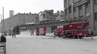 小樽の北海製罐で火災訓練!