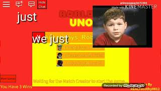 Playing Uno in Roblox!:My first video