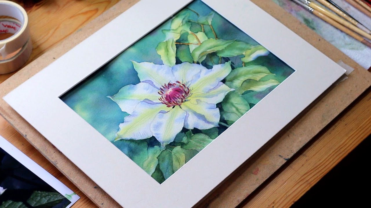 Watercolour demo single white flower part 6 youtube watercolour demo single white flower part 6 mightylinksfo
