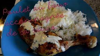 Mon poulet au four et sa sauce à la moutarde