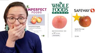 REAL Price Comparison   Imperfect Foods vs. Whole Foods vs. Safeway