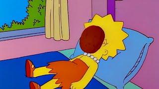 심슨 채식주의자 리사 얼굴에 날라온 햄버거 패티