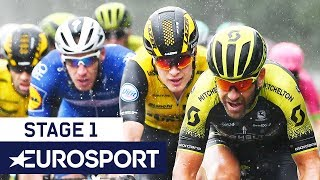 BinckBank Tour 2018 | Stage 1 Finish Highlights | Cycling | Eurosport