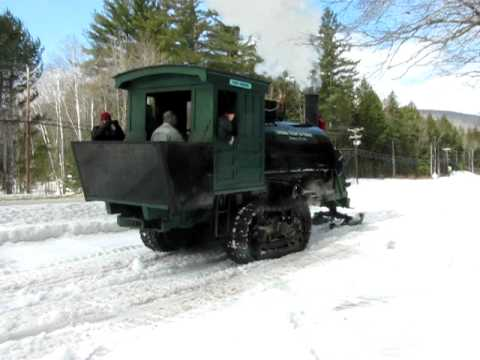 Steam-powered Lombard Log Hauler at White Mt. Central Railroad,