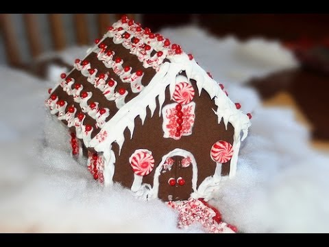 CASITA DE JENGIBRE Y GALLETAS ♡ FACIL - YouTube
