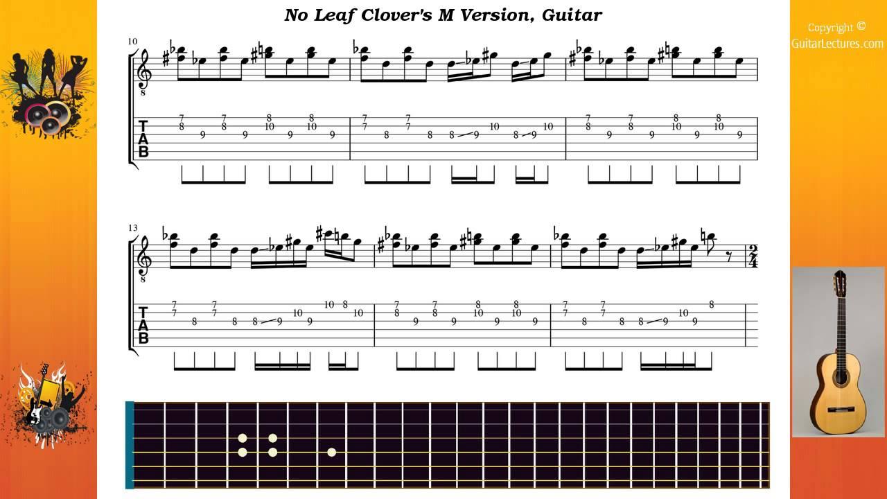 Download no leaf clover sheet music by metallica sheet music plus.