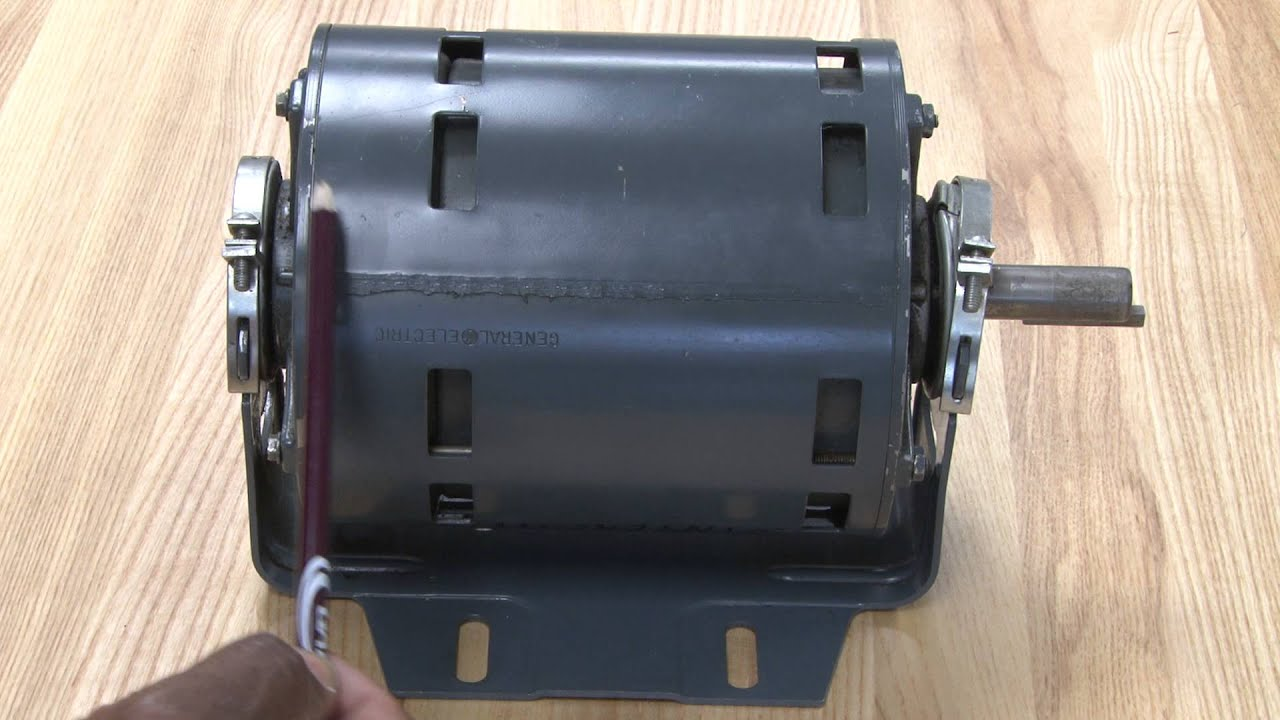 Split Phase Induction Motor Wiring Diagram Thermostat Air Conditioner Motors Youtube