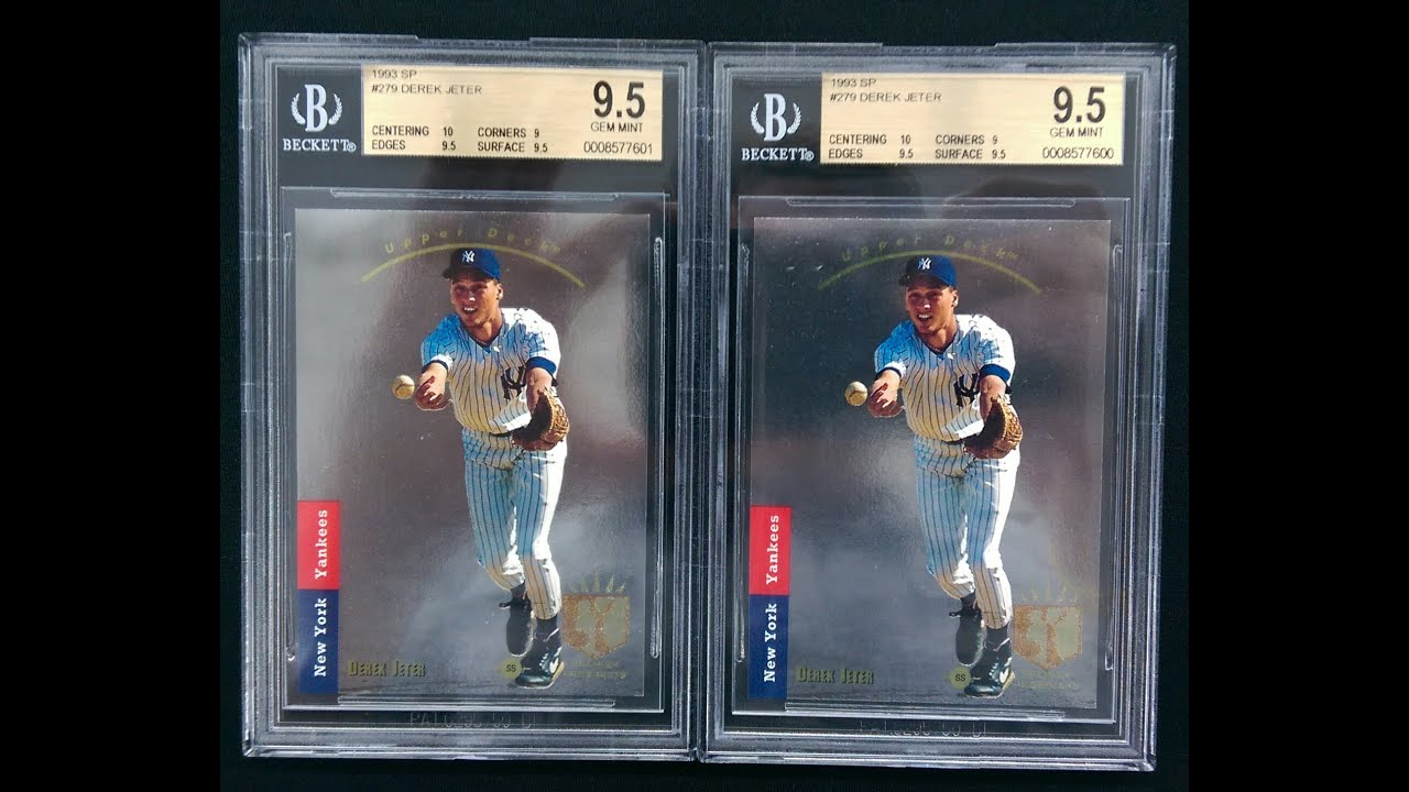 Bgs Reveal Wderek Jeter Sp Rookie Gem Mint 95x2