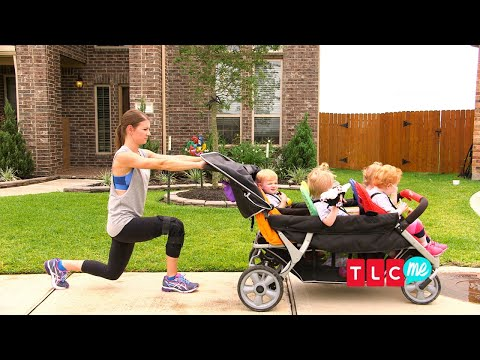 Turn Your Daily Kiddie-Walk Into A Full-On Workout! | OutDaughtered