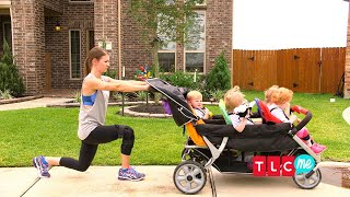 Turn Your Daily Kiddie-Walk Into A Full-On Workout!   OutDaughtered
