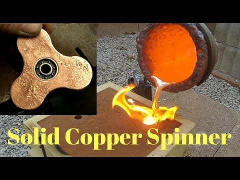 Making Copper Fidget Spinner - Start to Finish - Casting