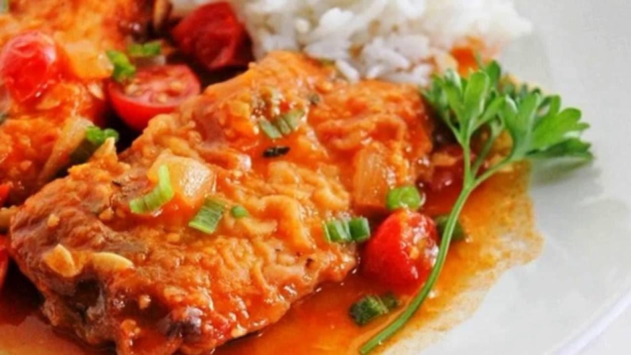 рыба с овощами-традиционный рецепт