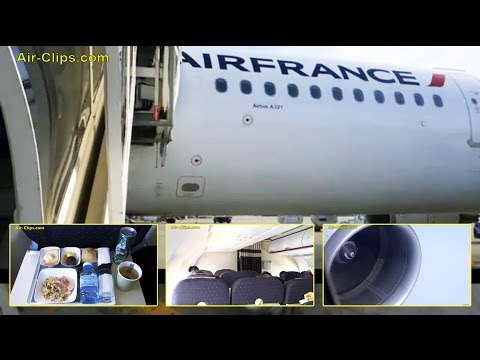 Air France Airbus A321 Premium Class Paris CDG to Barcelona [AirClips full flight series]