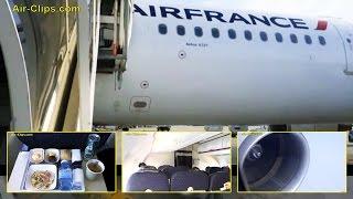 Air France Airbus A321 Premium Class Paris CDG to Barcelona [AirClips full flight series]