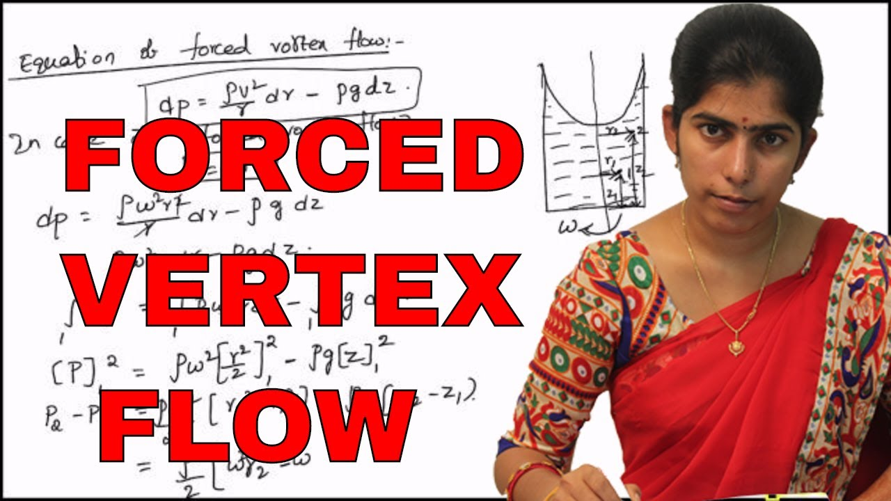 Equation Of Motion For Forced Vortex Flow Derivation Youtube