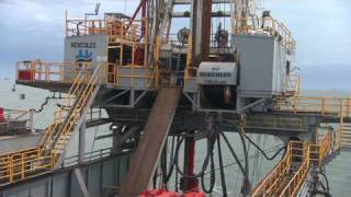 See an oil rig in action