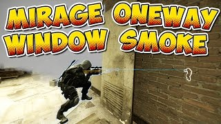 CS:GO - Mirage Window Oneway Smoke - Tutorial