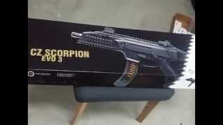 first look cz scorpion evo 3 s1 9mm unboxing