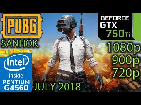 PUBG Sanhok - GTX 750 ti - G4560 - 1080p - 900p - 720p - Benchmark July 2018