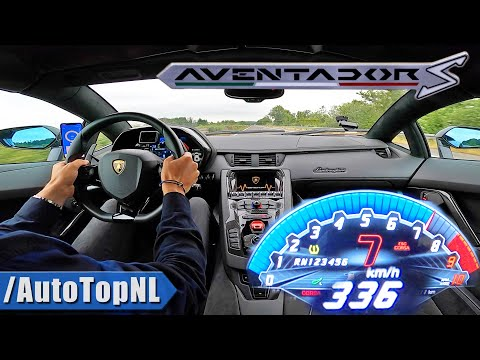 LAMBORGHINI AVENTADOR S V12 *336km/h* on AUTOBAHN [NO SPEED LIMIT] by AutoTopNL