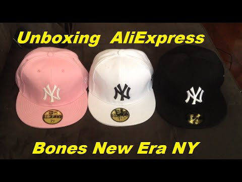 Unboxing AliExpress Bones New Era NY - YouTube 174d0476035