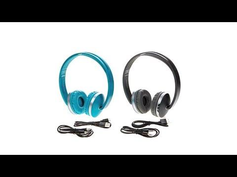 2pk Sharper Image Wireless Titanium Onear Headphones Youtube