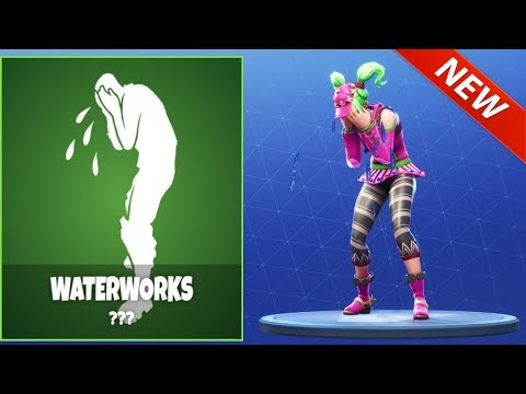 "*NEW* ""WATERWORKS"" CRYING EMOTE! ITEM STORE UPDATE JUNE 17 2018  - Fortnite Battle Royale"