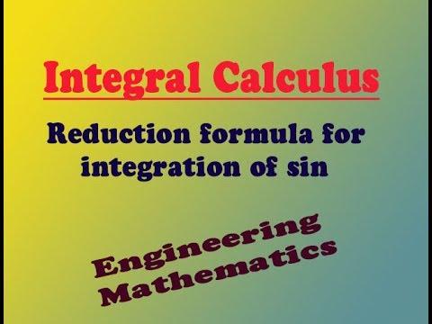 VTU Engineering Maths 1 Reduction formula of  ∫sin^n x. dx (PART-1)