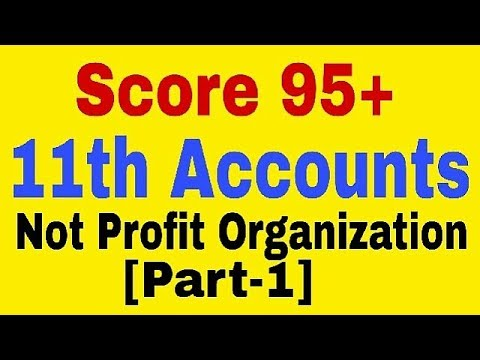 Not for Profit Organization[Part-1],Class 11 Accounts, what is NPO
