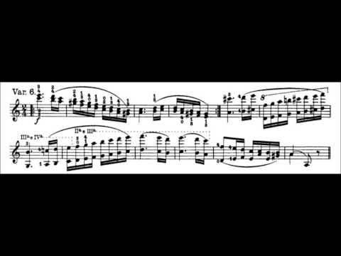 Niccolò Paganini - Caprice for Solo Violin, Op. 1 No. 24 (Sheet Music)