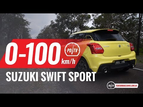 2018 Suzuki Swift Sport 0-100km/h & engine sound (manual vs