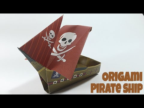 pirate ship tutorial easy ship origami youtube
