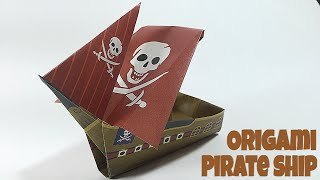 PIRATE SHIP TUTORIAL | EASY SHIP ORIGAMI