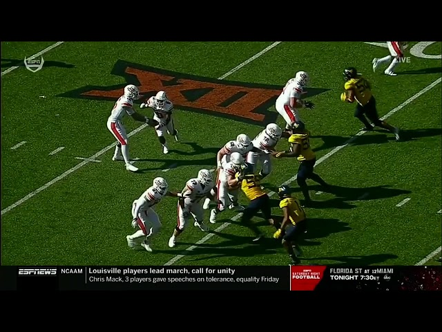 Oklahoma State OL/Offense vs West Virginia Defense (2020)