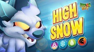 The High Snow Dragon!! Heroic Race: Frozen Lake - Dragon City