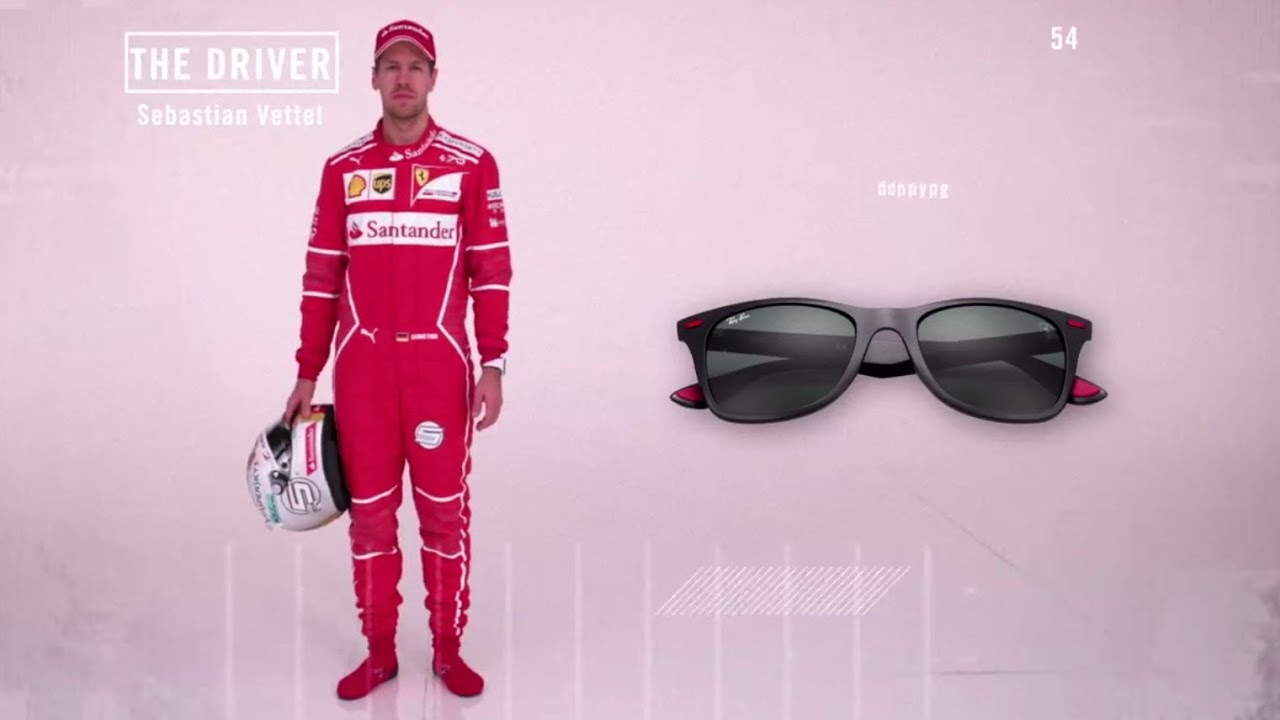 8875d87026 2017 Ray Ban Scuderia Ferrari Collection (featuring Sebastian Vettel and Kimi  Raikkonen)