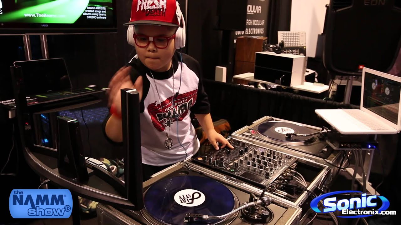 beamz dj controller feat. dj baby chino | namm 2013 - youtube