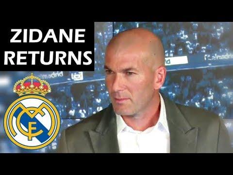 Zinedine Zidane Returns to Real Madrid as Manager