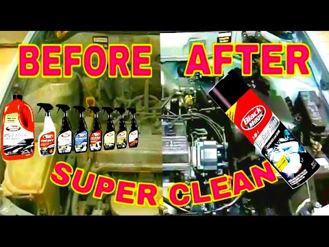 How to Clean Engine Bay Wash of old Toyota Corolla by Auto Strada Detailing Houz 2017